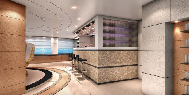 Superyacht Austin design concept - Bar