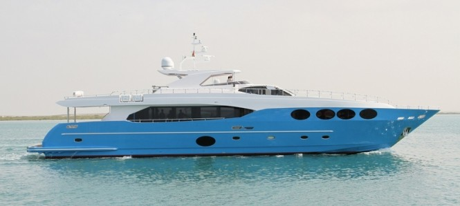 Gulf Craft superyacht Majesty 105 featuring fine linens by Heirlooms