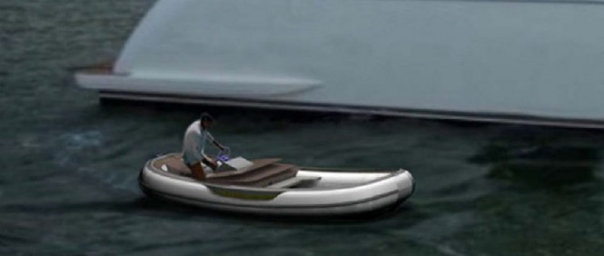 TenderIsland by Green Yachts used as a luxury yacht tender