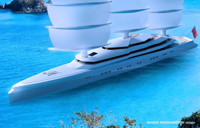 120m mega yacht Mariya design by Dennis Ingemansson