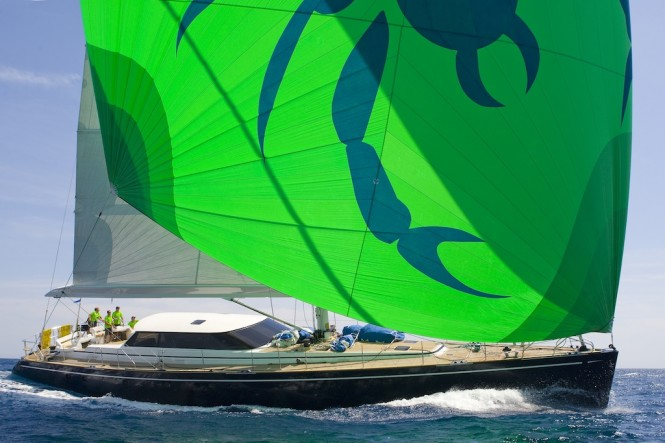 2005 Jongert 2900TC sailing yacht Scorpione dei mari 29.10m  - Image courtesy of Palma Superyacht Show