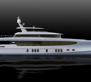New 34m motor yacht Burger 112' RPH concept by Burger Boat and Gregory C. Marshall
