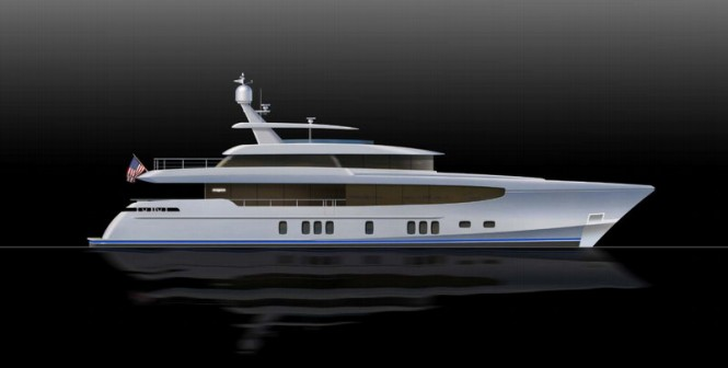 34m superyacht Burger 112 RPH concept by Burger Boat and Gregory C Marshall