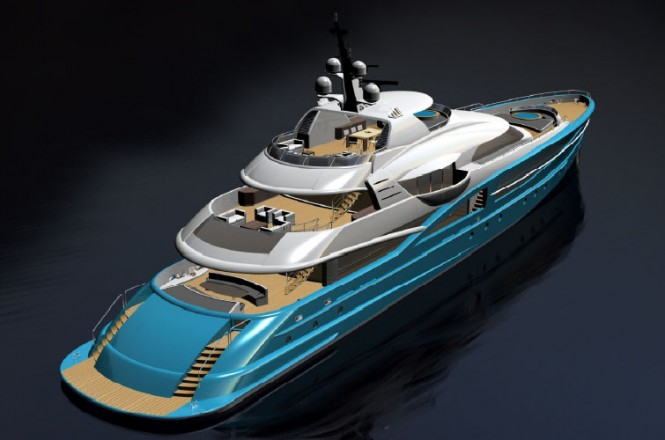 54m RW luxury yacht design
