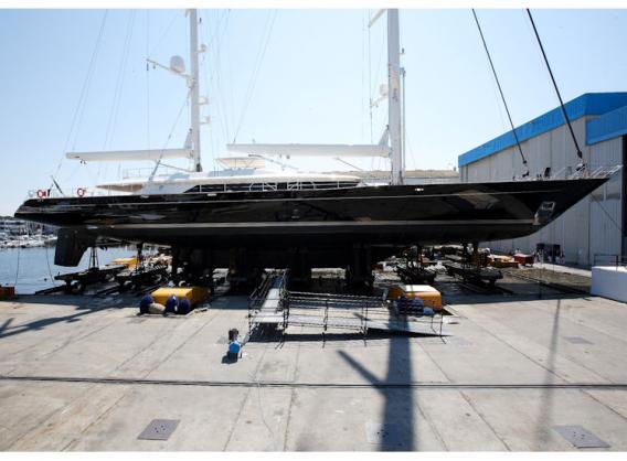 56m Perini Navi superyacht Asahi to feature a full set of Doyle Stratis sails - Image courtesy of Doyle Sails NZ