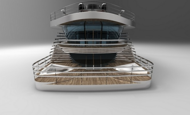 Atlantic Yacht Design - aft view