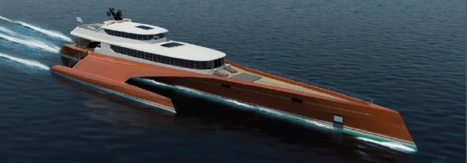 BCY 60m Trimaran Yacht Concept by Blue Coast Yachts
