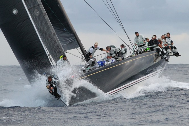 Line honours victory for Hap Fauth's American Mini Maxi, Bella Mente in action during the recent  RORC Caribbean 600 - Credit: Tim Wright/photoaction.com