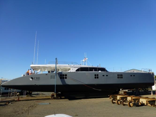 Charter yacht CHE at Oceania Marine Shipyard