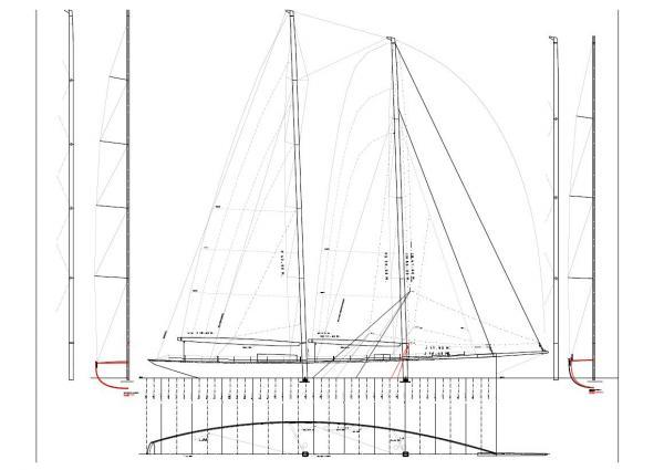 Dona Francisca Yacht - Sail plan - Image courtesy of Doyle Sails NZ