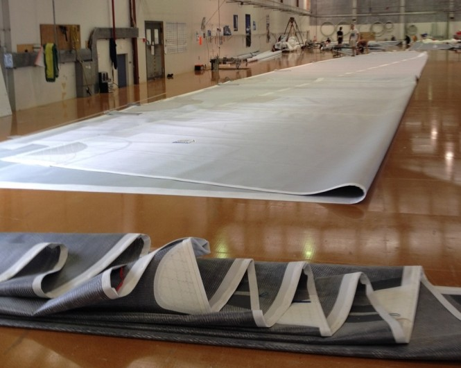 Doyle Stratis sails for the 46m Royal Huisman superyacht Project 392