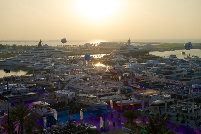 Dubai International Boat Show 2014 from above