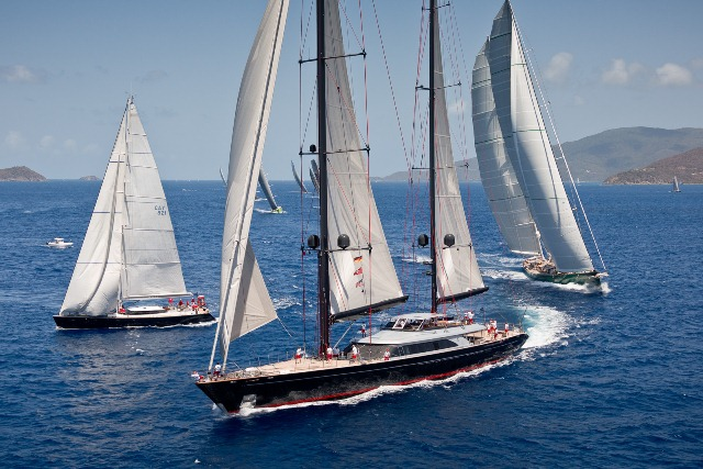 A close fleet fueled adrenaline on the race course. Jeff Brown / Superyacht Media