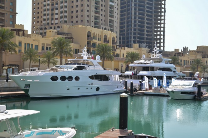 Gulf Craft superyachts at The Pearl Qatar