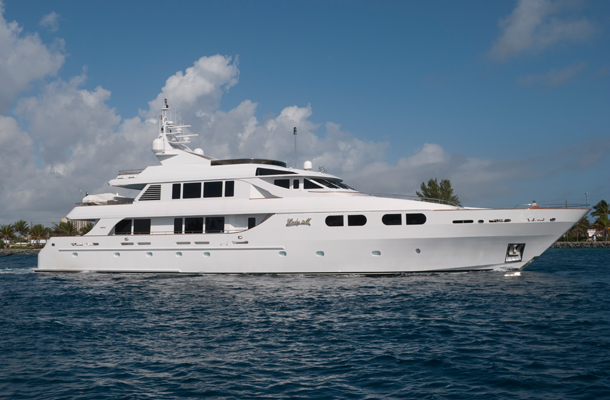 Luxury motor yacht LADY M to be displayed by Burger Boat at the 2014 Palm Beach Boat Show