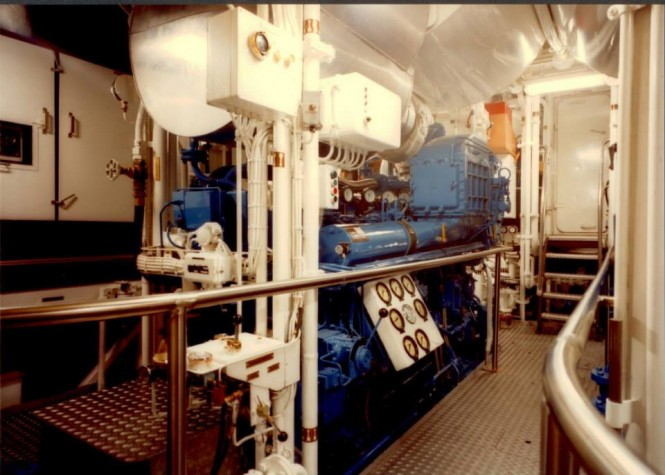 Lady Georgina Yacht - Engine Room