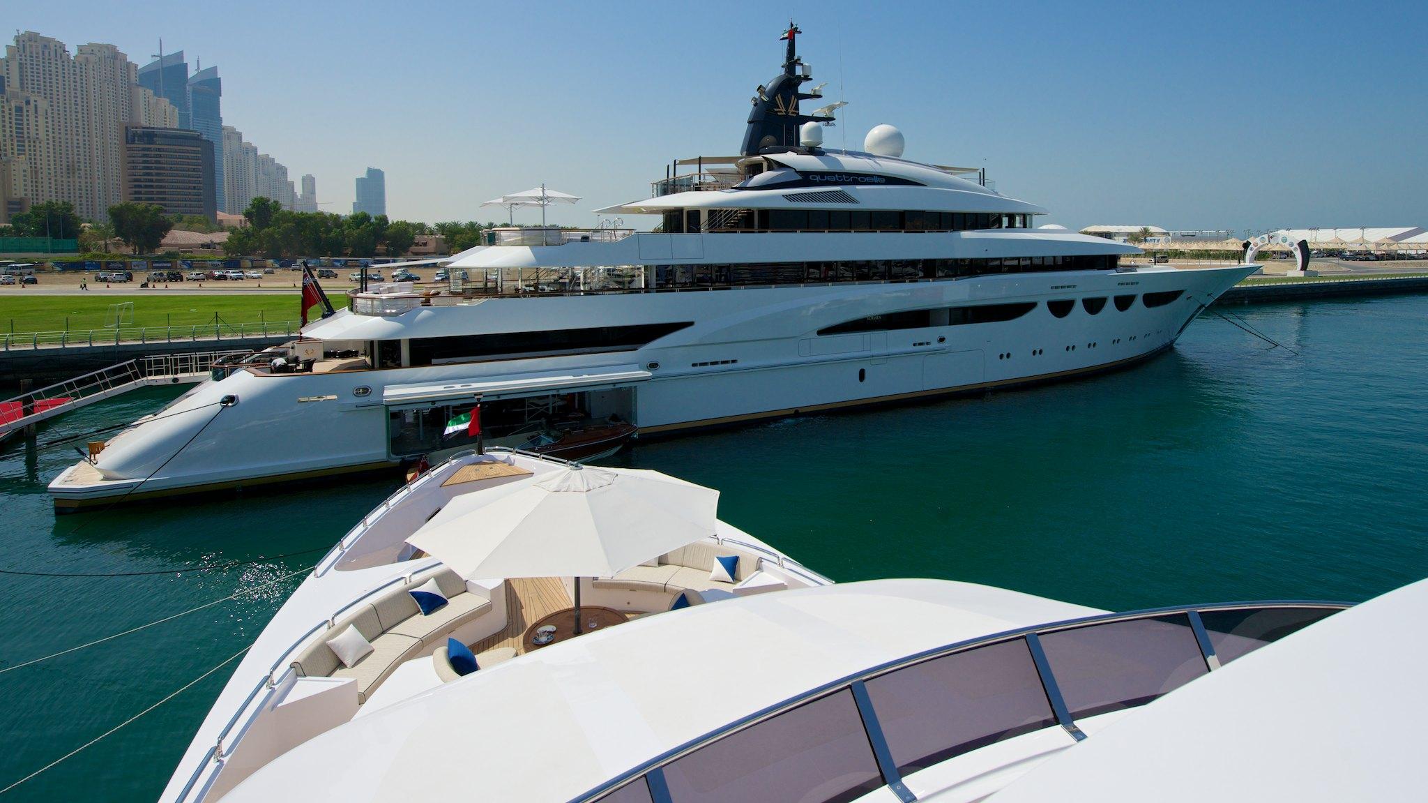 Luxury superyacht keyla interior by hot lab luxury yacht charter - Lurssen Mega Yacht Quattroelle On Display At The 2014 Dubai Boat Show