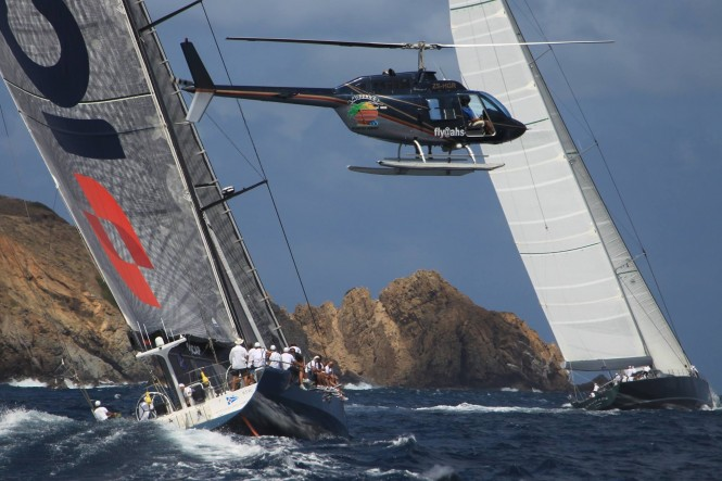 Luxury superyachts competing at the 2014 Loro Piana Caribbean Regatta and Rendezvous