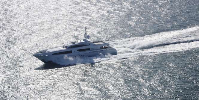 Luxury yacht Galatea under sea trials - Image credit to Dick Holthuis