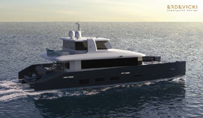 Luxury yacht KingCAT 80 - Enclosed fly-bridge version