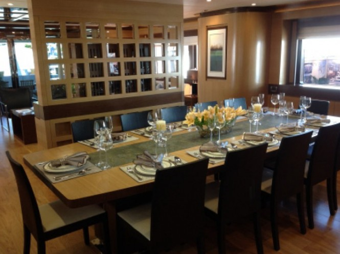 Luxury yacht LADY CHRISTING - Dining Room