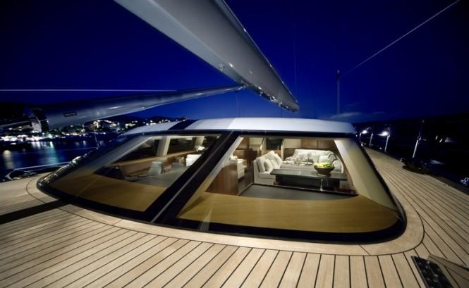 Luxury yacht Mystere