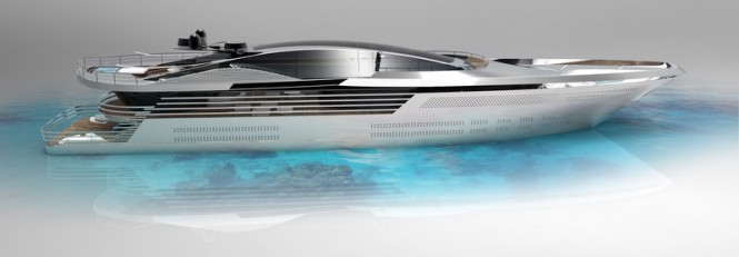 Mega yacht Atlantic design