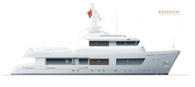 Modernised 125ft Explorer Yacht Design by ERDEVICKI superyacht design