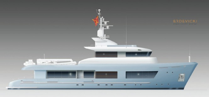 Modernised 125ft Superyacht Design by ERDEVICKI