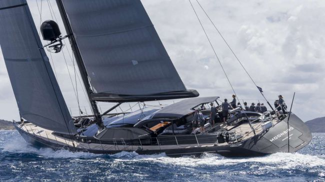 Luxury charter yacht Moonbird, Division C winner. Loro Piana Caribbean Superyacht Regatta & Rendezvous 2014. Photo Carlo Borlenghi/Superyacht Media
