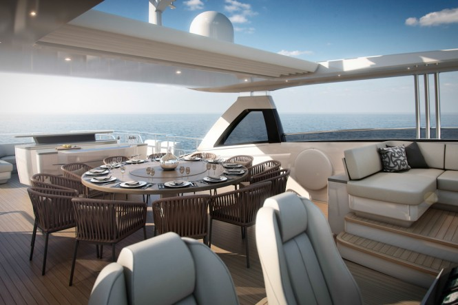 Motor Yacht Princess 35M Flybridge with Owner's Bespoke Upgrades - Image courtesy of Princess Yacht International Plc