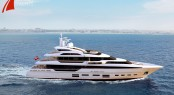 New 40m motor yacht QuadraDeck by Danish Yachts - Profile at Sea