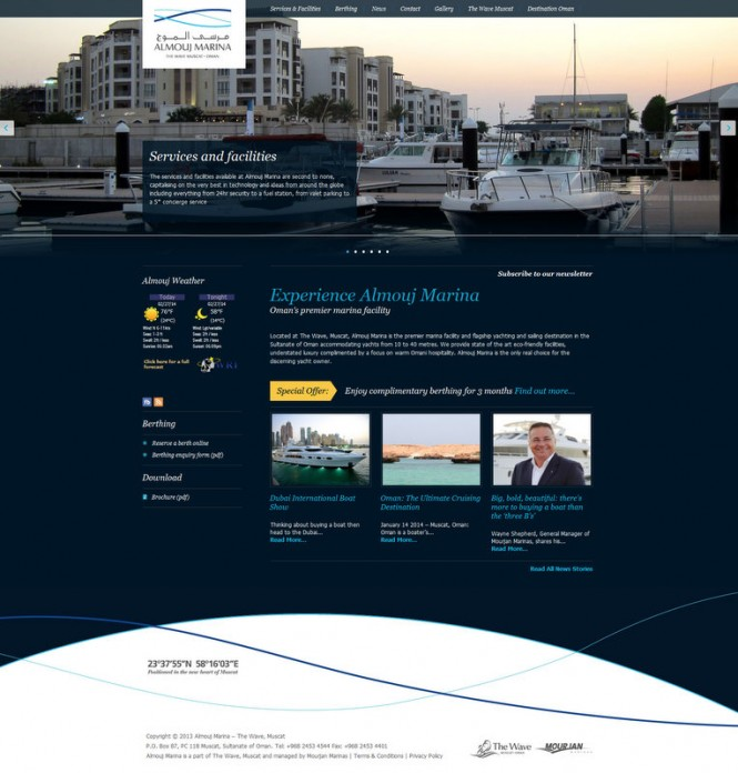 New website launched by Mourjan Marinas-operated Almouj Marina