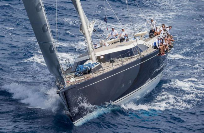 Nilaya, Division A winner. Loro Piana Caribbean Superyacht Regatta & Rendezvous 2014. Photo Carlo Borlenghi/Superyacht Media.