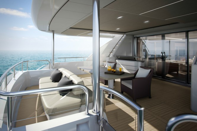 PRINCESS 35M SUPERYACHT - Cockpit - Image courtesy of Princess Yachts International Plc