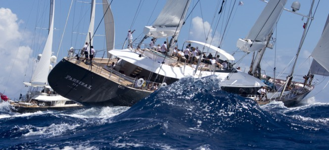 PERINI NAVI superyacht Parsifal III at St Barth Bucket - Photo by Carlo Borlenghi