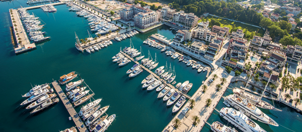 Porto Montenegro in the popular Eastern Mediterranean yacht charter location - Montenegro
