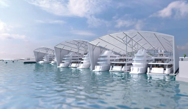 Rendering of new Miami Mega Yacht Marina - Image credit to HCD Construction Group