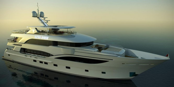 Rendering of superyacht King Baby by IAG Yachts