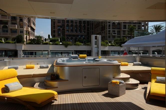 Spa Pool aboard Superyacht Exuma -  Photo courtesy of Perini Navi