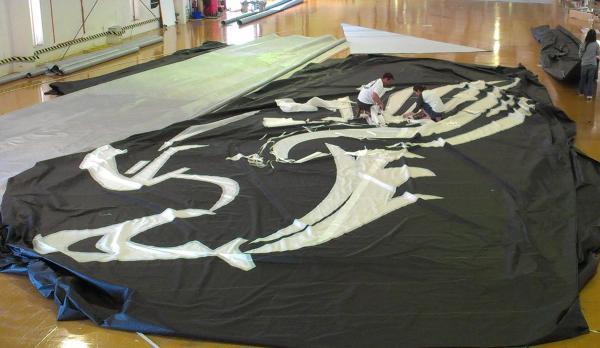 Spirit yacht's gennaker in progress - Image courtesy of Doyle Sails NZ