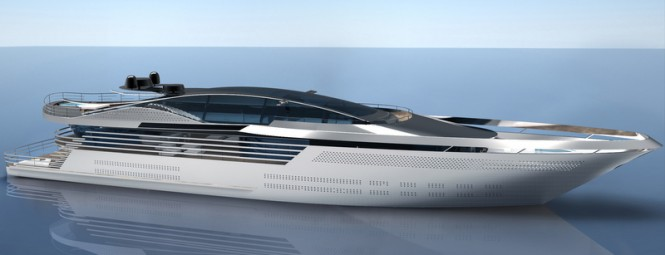 Superyacht Atlantic concept - side view