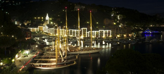 The popular Meditteranean yacht charter location - Portofino in Italy