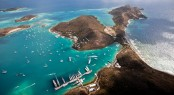 Yachts left YCCS Marina following a 'Round Virgin Gorda' Course on Day 1 and 2. Jeff Brown / Superyacht Media