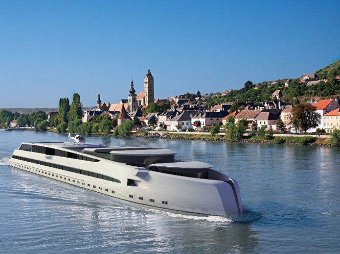A preliminary design for a Luxury River Yacht unveiled by Dorries Yachts