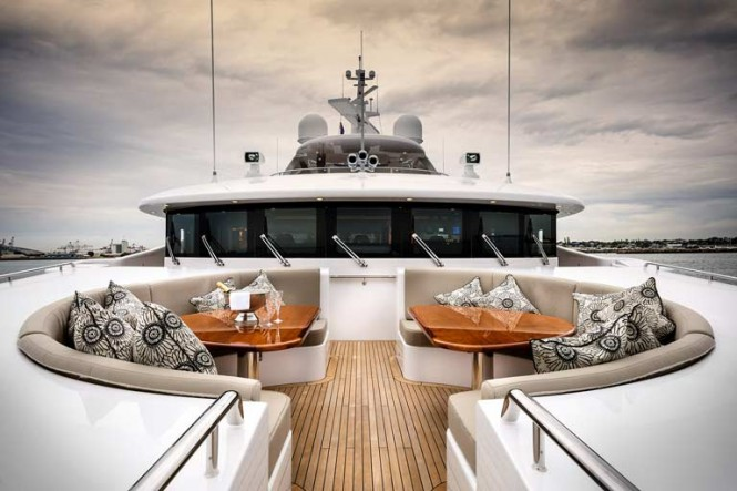 Aboard Waterline-designed superyacht Zenith