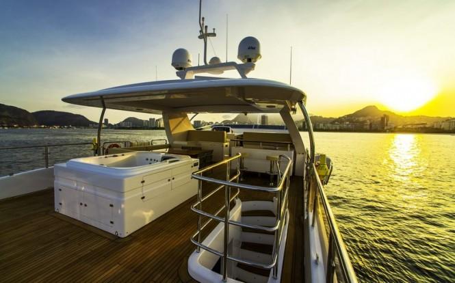 Aboard ZAPHIRA superyacht - Image credit to Alberto de Abreu Sodre