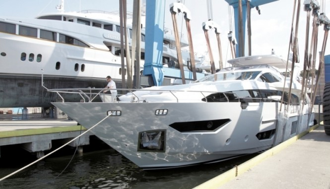 Azimut Grande 95RPH superyacht on the water