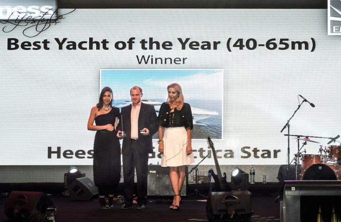 Best Luxury Yacht of 2014 award goes to motor yacht Galactica Star by Heesen Yachts - Image courtesy of Heesen Yachts