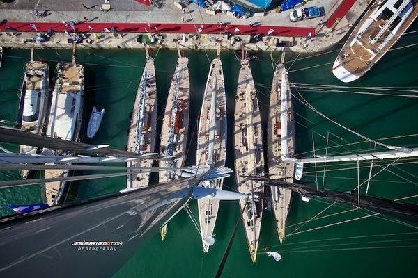 Five J Class Yachts at SYC Palma 2013 - Image Jesús Renedo